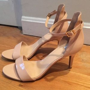 Nordstrom BP blush patent leather heels, size 9.5